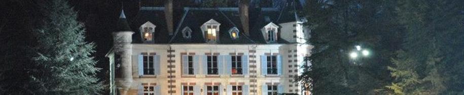 Château Geneste dans la nuit